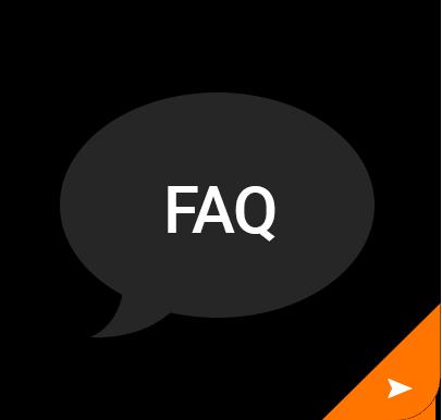 FAQ speech bubble icon