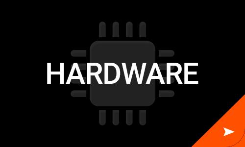 Hardware computer chip icon